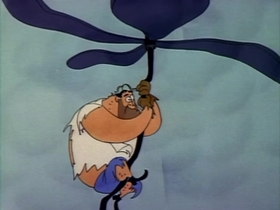 Screenshots from the 1954 Warner Brothers cartoon No Parking Hare