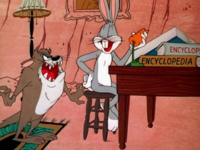 Screenshots from the 1954 Warner Bros. cartoon Devil May Hare