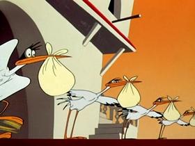 Screenshots from the 1954 Warner Brothers cartoon Goo Goo Goliath