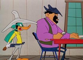 Screenshots from the 1954 Warner Brothers cartoon My Little Duckaroo