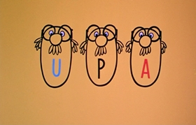Screenshots from the 1954 UPA cartoon How Now Boing Boing