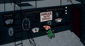 Screenshots from the 1954 UPA cartoon Destination Magoo