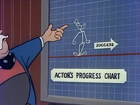 Screenshots from the 1955 Disney cartoon The Goofy Success Story