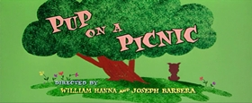 Screenshots from the 1955 MGM cartoon Pup on a Picnic
