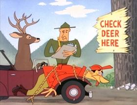 Screenshots from the 1955 MGM cartoon Field and Scream