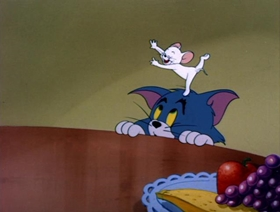 Screenshots from the 1955 MGM cartoon Mouse for Sale