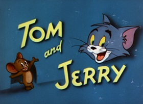 Screenshots from the 1955 MGM cartoon Designs on Jerry