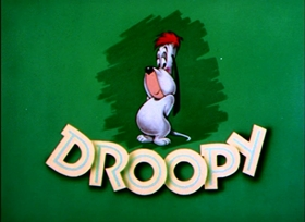 Screenshots from the 1955 MGM cartoon Deputy Droopy