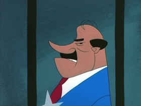Screenshots from the 1955 MGM cartoon Cellbound