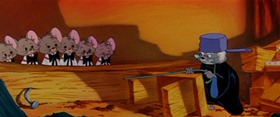 Screenshots from the 1955 MGM cartoon Good Will to Men