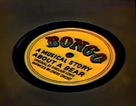 Screenshots from the 1955 Disney cartoon Jiminy Cricket Presents Bongo