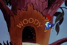 Screenshots from the 1955 Walter Lantz cartoon Helter Shelter