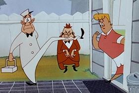 Screenshots from the 1955 Walter Lantz cartoon Crazy Mixed-Up Pup