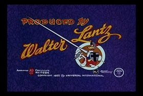 Screenshots from the 1955 Walter Lantz cartoon Bedtime Bedlam