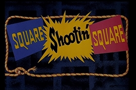 Screenshots from the 1955 Walter Lantz cartoon Square Shootin