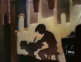 Screenshots from the 1955 Disney cartoon From Aesop to Hans Christian Andersen