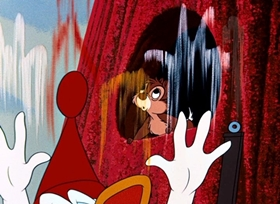 Screenshots from the 1955 Disney cartoon Up a Tree