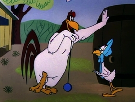 Screenshots from the 1955 Warner Brothers cartoon Feather Dusted