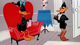 Screenshots from the 1955 Warner Bros. cartoon Stork Naked