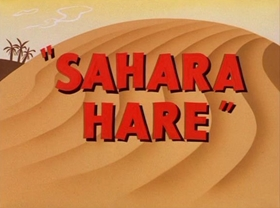 Screenshots from the 1955 Warner Brothers cartoon Sahara Hare