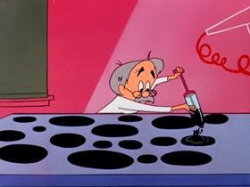 Screenshots from the 1955 Warner Brothers cartoon The Hole Idea