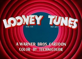 Screenshots from the 1955 Warner Bros. cartoon Ready, Set, Zoom!