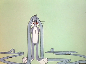 Screenshots from the 1955 Warner Brothers cartoon Rabbit Rampage