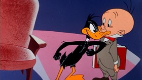 Screenshots from the 1955 Warner Brothers cartoon This Is a Life?