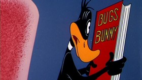 Screenshots from the 1955 Warner Bros. cartoon This Is a Life?