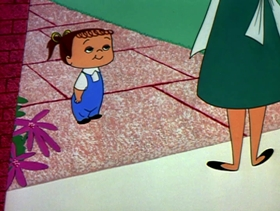 Screenshots from the 1955 Warner Brothers cartoon A Kiddie