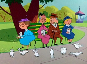 Screenshots from the 1955 Warner Brothers cartoon Hyde and Hare