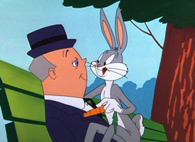 Screenshots from the 1955 Warner Bros. cartoon Hyde and Hare
