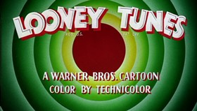 Screenshots from the 1955 Warner Brothers cartoon Dime to Retire