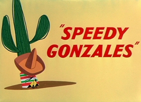 Screenshots from the 1955 Warner Brothers cartoon Speedy Gonzales