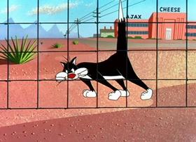 Screenshots from the 1955 Warner Brothers cartoon Speedy Gonzales