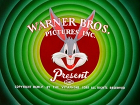 Screenshots from the 1955 Warner Brothers cartoon Knight-Mare Hare