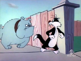Screenshots from the 1955 Warner Brothers cartoon Pappy