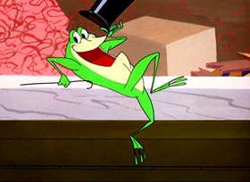 Screenshots from the 1955 Warner Brothers cartoon One Froggy Evening