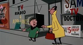 Screenshots from the 1955 UPA cartoon Magoo