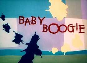 Screenshots from the 1955 UPA cartoon Baby Boogie