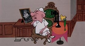Screenshots from the 1955 UPA cartoon Madcap Magoo