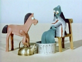 Screenshots from the 1956 Clokey Productions cartoon Little Lost Pony