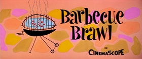 Screenshots from the 1956 MGM cartoon Barbecue Brawl