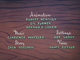 Screenshots from the 1956 Walter Lantz cartoon After the Ball