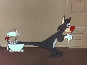 Screenshots from the 1956 Walter Lantz cartoon Get Lost