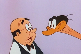 Screenshots from the 1956 Walter Lantz cartoon The Ostrich Egg and I