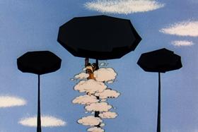Screenshots from the 1956 Walter Lantz cartoon Hold That Rock