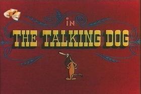 Screenshots from the 1956 Walter Lantz cartoon The Talking Dog