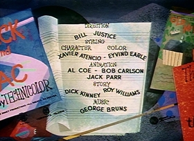 Screenshots from the 1956 Disney cartoon Jack and Old Mac