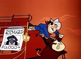 Screenshots from the 1956 Disney cartoon A Cowboy Needs a Horse